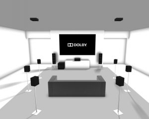 How many speakers are needed to configure Dolby Atmos